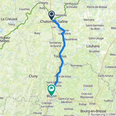 Route to 244–357 Quai Lamartine, Mâcon