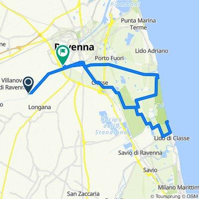 Da Via del Piviere, Ravenna a Via Marcello Piacentini 23, Ravenna