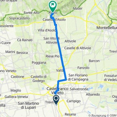 Da Via San Giorgio, Castelfranco Veneto a Via Guglielmo Marconi 132, Asolo
