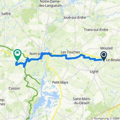 De La Fouquelière, Mouzeil à Le Bois Hervé, Nort-sur-Erdre