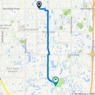 4060 Bee Ridge Rd, Sarasota to 7373–7399 McIntosh Rd, Sarasota