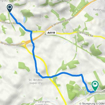 Cardiff Road, Creigiau, Cardiff to 21–39 Cardiff Road, St Fagans, Cardiff