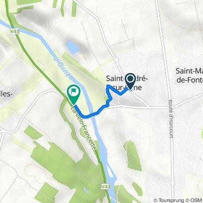 De 20 Rue du Coursin, Saint-André-sur-Orne à Route de Saint-André-sur-Orne, Feuguerolles-Bully