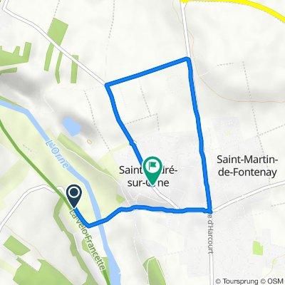 De Route de Saint-André-sur-Orne, Feuguerolles-Bully à 18 Rue du Coursin, Saint-André-sur-Orne