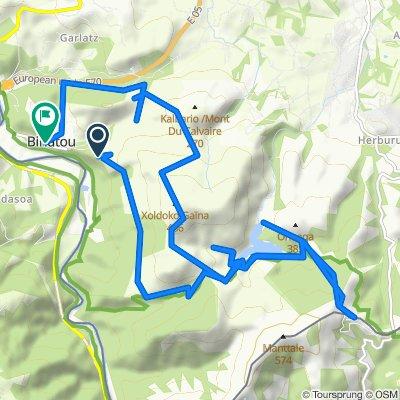 Itinéraire vers 1134 Chemin Herri Alde, Biriatou