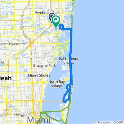 1931 NE 206th Terr, Miami to 2290 NE 197th St, Miami