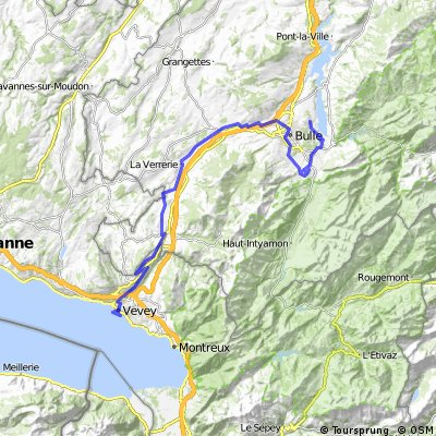 Schweiz, Veloroute 9, Vevey - Gruyeres -  Morlon