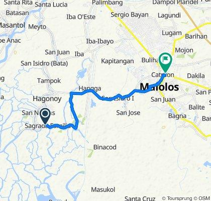 Sagrada Familia 167, Bayan ng Hagonoy to MacArthur Highway, Malolos