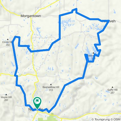 Princes Lakes 50 mile route