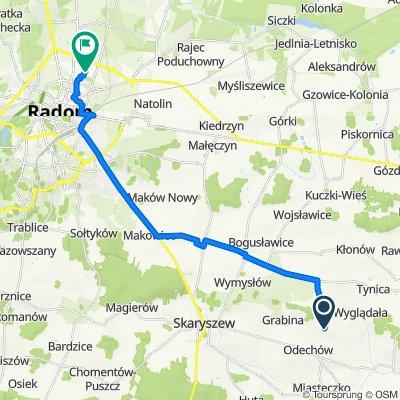 Odechowiec 49, Skaryszew do Ignacego Paderewskiego 20, Radom