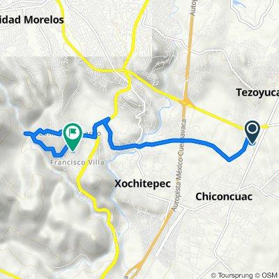De Calle Bilvao, Chiconcuac a Calle Cascalote 13, Xochitepec