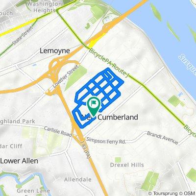 811 Linwood St, New Cumberland to 809 Linwood St, New Cumberland