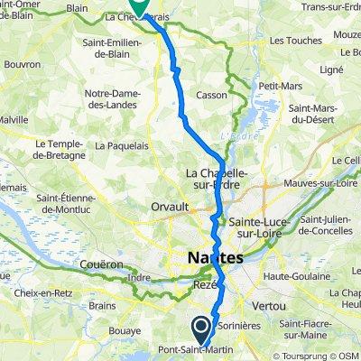 De Rue de la Chalandière 12, Pont-Saint-Martin à Rue Georges Courteline 6, La Chevallerais