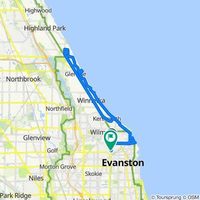 2500 McDaniel Ave, Evanston to 2609 Payne St, Evanston