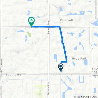2708 Huntington Ave, Sarasota to 3311 Bahia Vista St, Sarasota