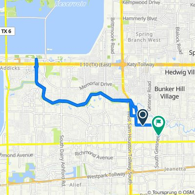 Briarpark Drive 1411, Houston to South Gessner Road 2405, Houston