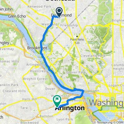 Route to 1612 N Hartford St, Arlington