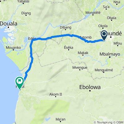 Itinéraire vers Kribi-Ebolowa, Kribi