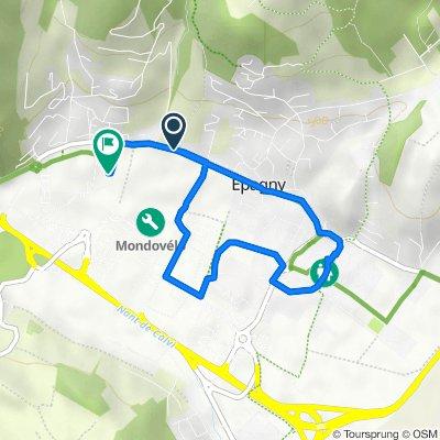 De Route d'Epagny 1545, Sillingy à Route des Prés Rollier 486, Sillingy