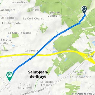 Rue de Charbonnière 425, Saint-Jean-de-Braye to Rue de Charbonnière 134, Saint-Jean-de-Braye