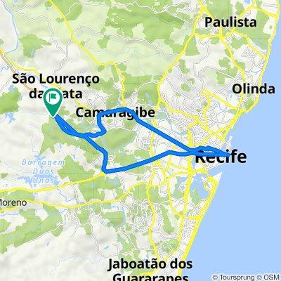 De Rua Aldeia Velha Conde Reserva S Lourenco, 80, São Lourenço da Mata a Rua Campos do Universo, São Lourenço da Mata