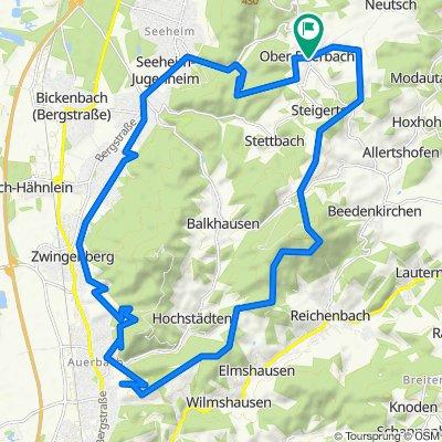 von Ober-Beerbach, Felsenmeer, Fürstenlager,Blütenweg