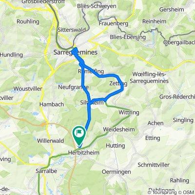 De 7 Rue de Hambach, Herbitzheim à 6 Rue de Hambach, Herbitzheim