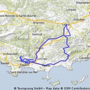 Les 3 monts Toulonnais par le Babaou