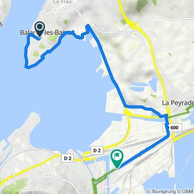Balaruc les Bains - Sète uniquement par piste cyclable