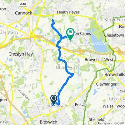 9 Bamford Road, Walsall to 2 Washbrook Lane, Cannock
