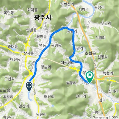 Opo-eup 837-3, Gwangju-si to Chowol-myeon 112, Gwangju-si