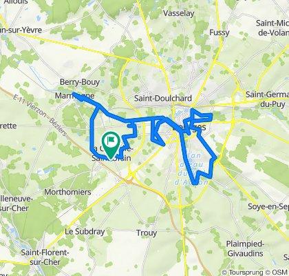 De 4 Impasse de Provence, La Chapelle-Saint-Ursin à 2 Impasse de Provence, La Chapelle-Saint-Ursin