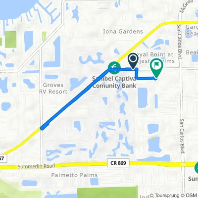 12002–12098 Kelly Rd, Fort Myers to 16340 Dublin Cir, Fort Myers