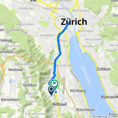 De Zopfstrasse, Adliswil à Leimbachstrasse 2–8, Adliswil