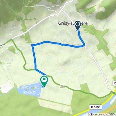 Itinéraire à partir de 90 Avenue de la Combe de Savoie, Grésy-sur-Isère