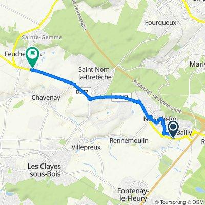 De 5 Route de Fontenay, Bailly à 4 Place de l'Europe, Feucherolles