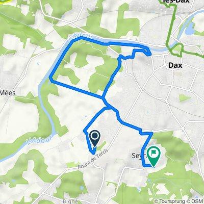 De Route du Lanot, Dax à 18 Rue des Bleuets, Seyresse