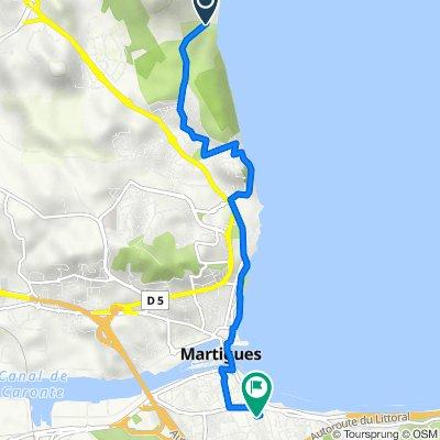 Itinéraire vers 6 Boulevard Gérard Philipe, Martigues