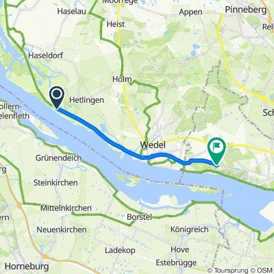 Route nach Grotiusweg 49–65, Hamburg