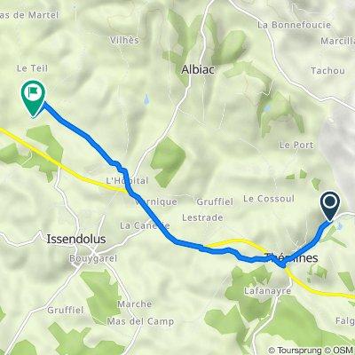 Itinéraire à partir de D40, Thémines