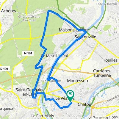 De 29 Route de la Faisanderie, Le Vésinet à 25 Route de la Faisanderie, Le Vésinet