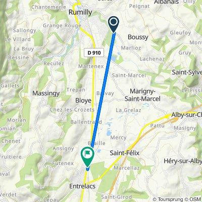 De Route du Cheran 327, Sales à Route de Rumilly 877, Albens
