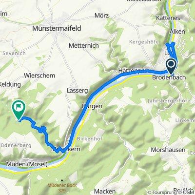 Brodenbach - Burg Elz, 15 km, 160 hm