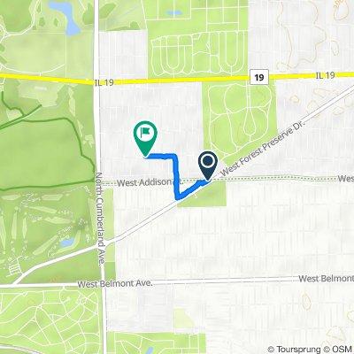 7955 W Addison St, Chicago to 8200–8214 W Waveland Ave, Chicago