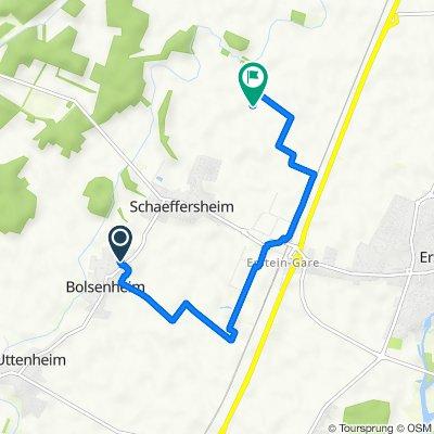 De Rue des Vosges 1, Bolsenheim à Unnamed Road, Erstein
