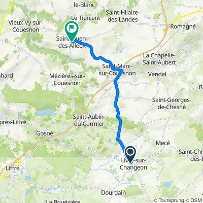De 5 Saint-Mauron, Livré-sur-Changeon à 23 Rue du Général de Gaulle, Saint-Ouen-des-Alleux