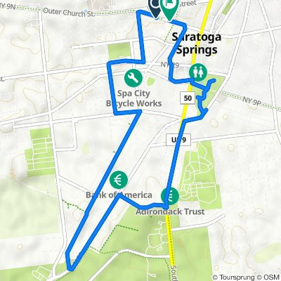 102 Church St, Saratoga Springs to 71 Church St, Saratoga Springs