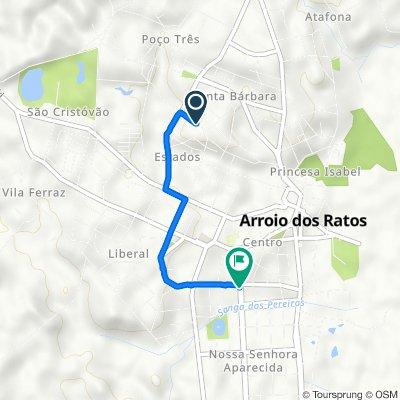 De Rua Henrique Lounge, 2–142, Arroio dos Ratos a Avenida Getúlio Varga, 296–476, Arroio dos Ratos