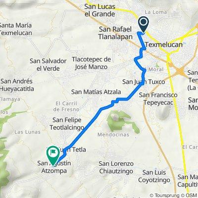 De Tlahuicole 2, San Martín Texmelucan de Labastida a Avenida 16 de Septiembre 118, San Juan Tetla