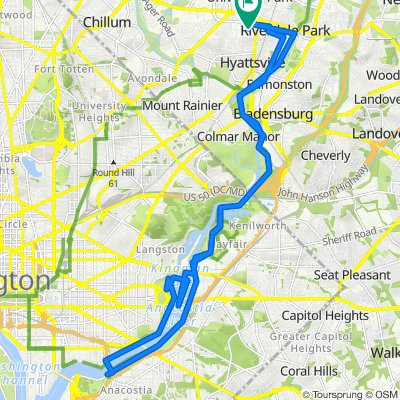 6106 44th Ave, Riverdale Park to 6104 44th Ave, Riverdale Park